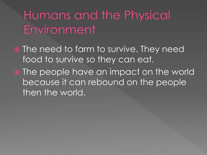 Humans and the Physical Environment