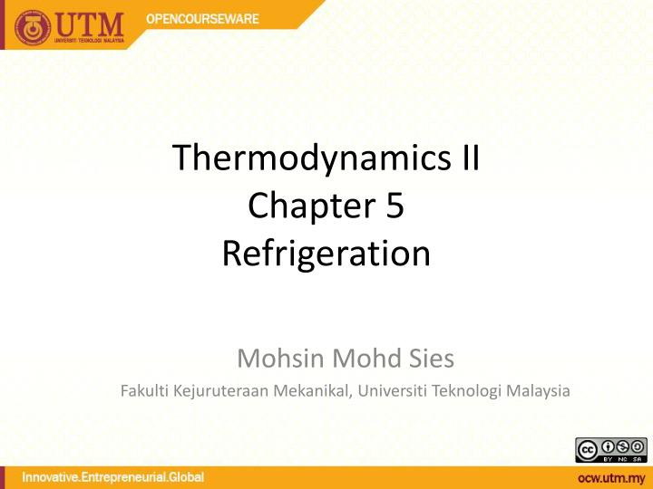 thermodynamics ii chapter 5 refrigeration n.