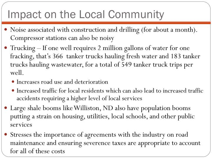 Impact on the Local Community