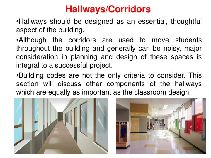 Hallways/Corridors