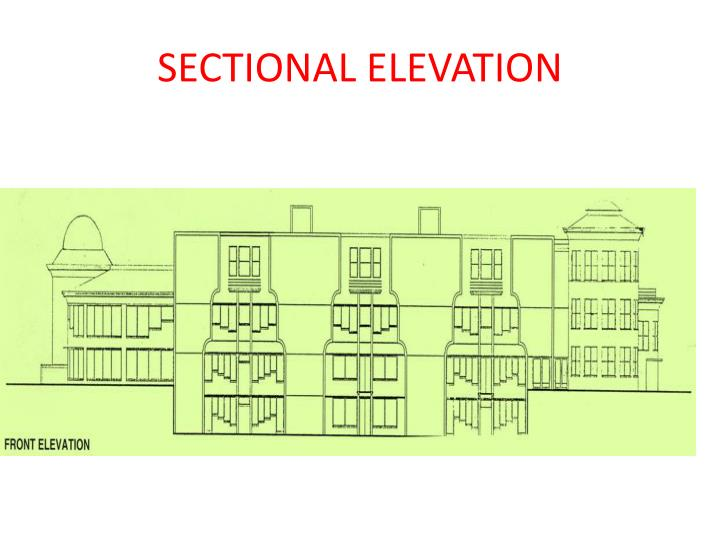 SECTIONAL ELEVATION