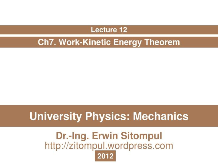 university physics mechanics n.