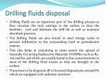 drilling fluids disposal