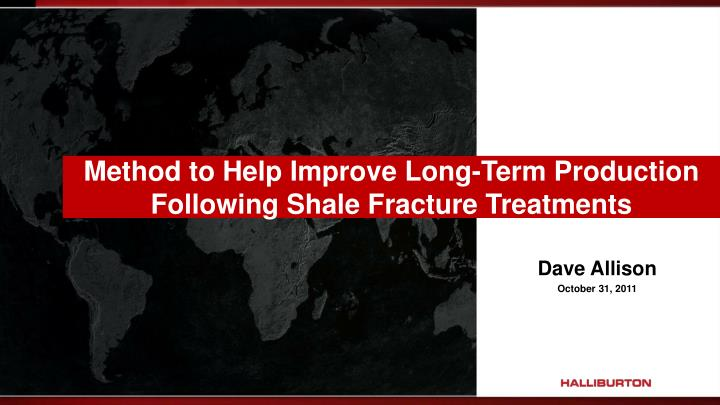 method to help improve long term production following shale fracture treatments n.