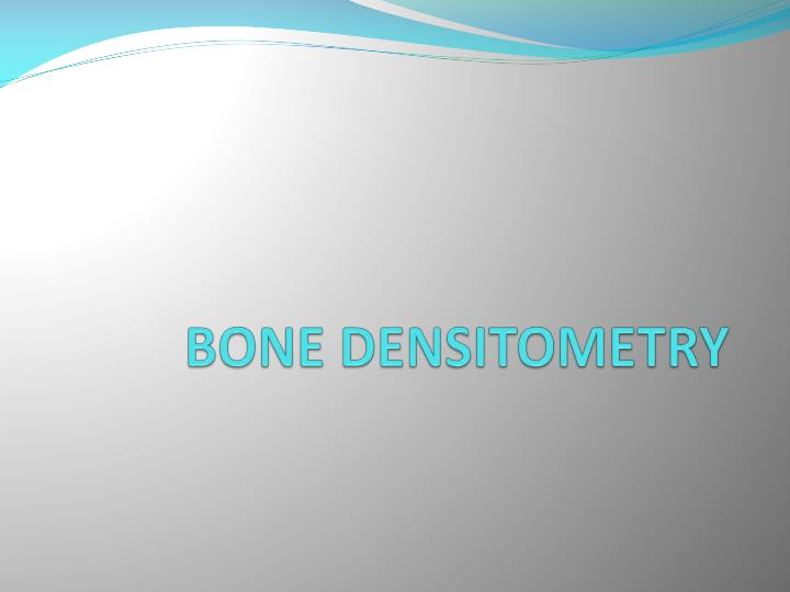 bone densitometry n.