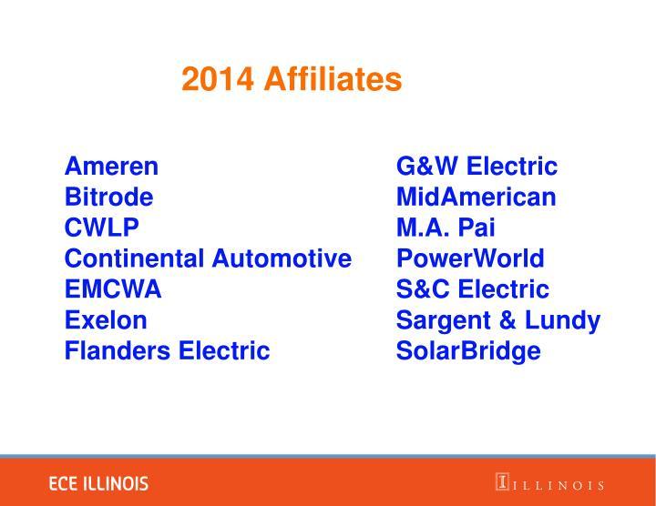 2014 affiliates
