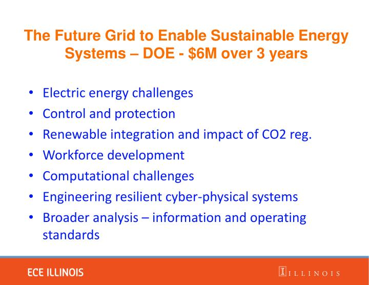 Electric energy challenges
