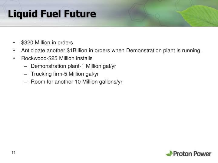 Liquid Fuel Future