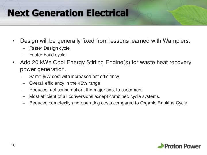 Next Generation Electrical