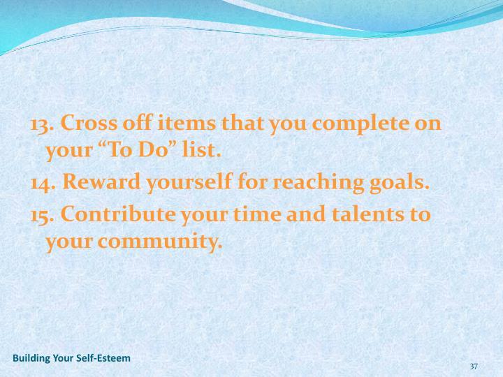 Building Your Self-Esteem