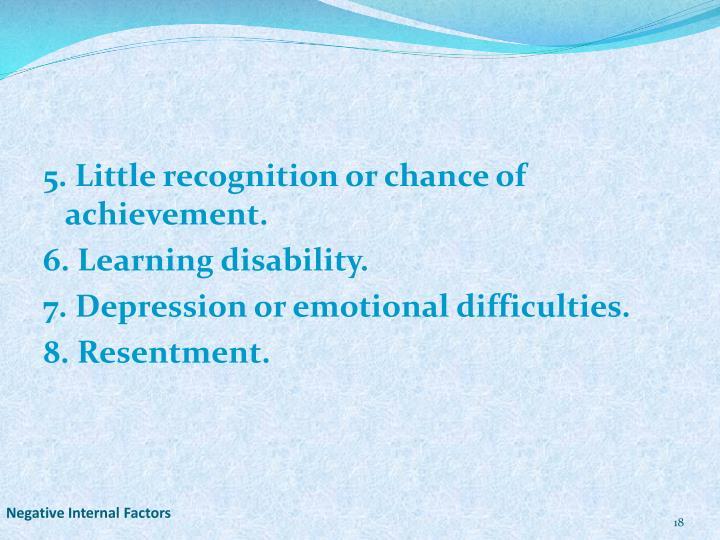 Negative Internal Factors