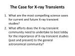 the case for x ray transients