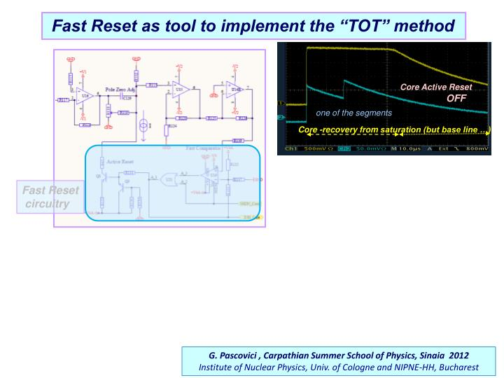 "Fast Reset as tool to implement the ""TOT"" method"