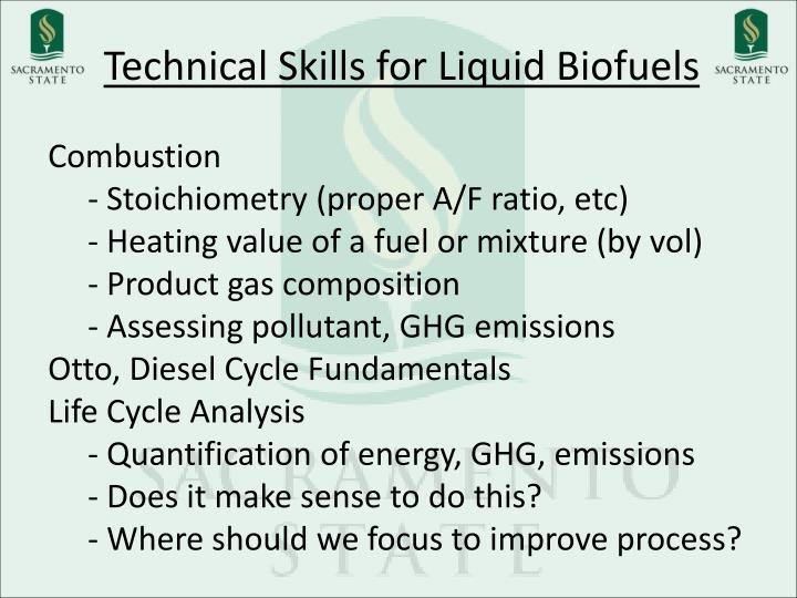 Technical Skills for Liquid