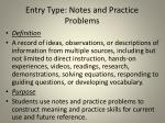 entry type notes and practice problems