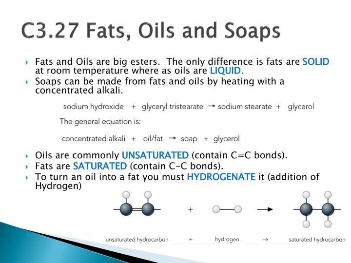 C3.27 Fats, Oils and Soaps