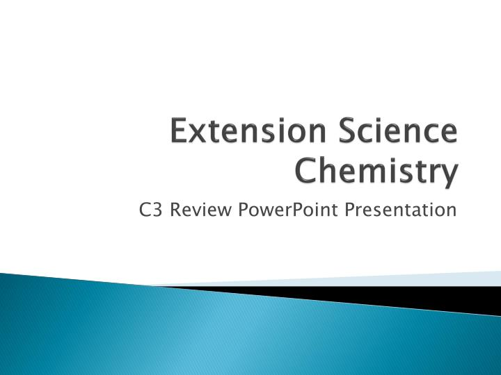 Extension science chemistry