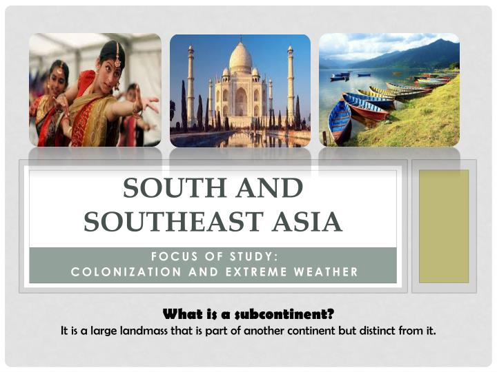 south and southeast asia
