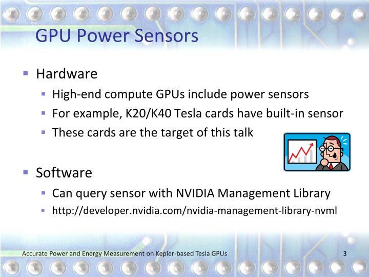 Gpu power sensors