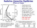 radiative convective equilibrium effects of clouds
