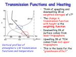 transmission functions and heating