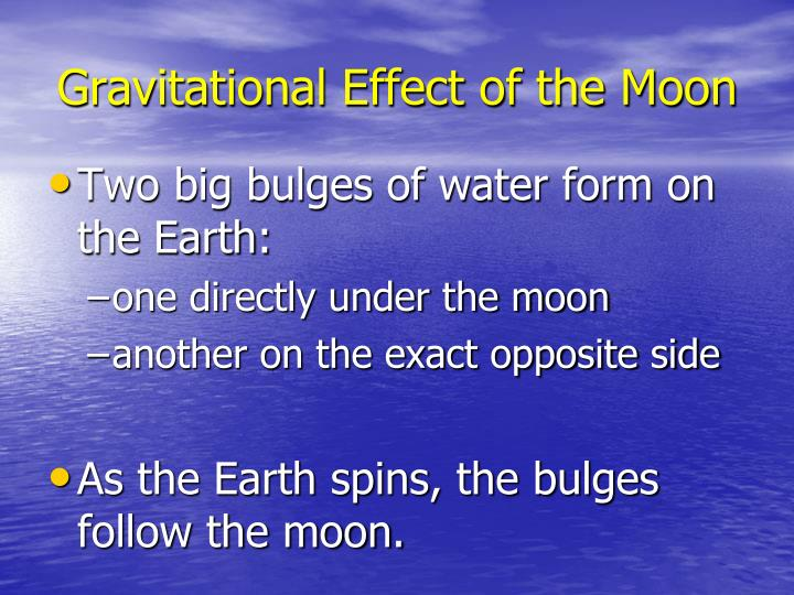 Gravitational Effect of the Moon