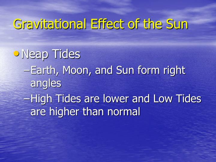 Gravitational Effect of the Sun