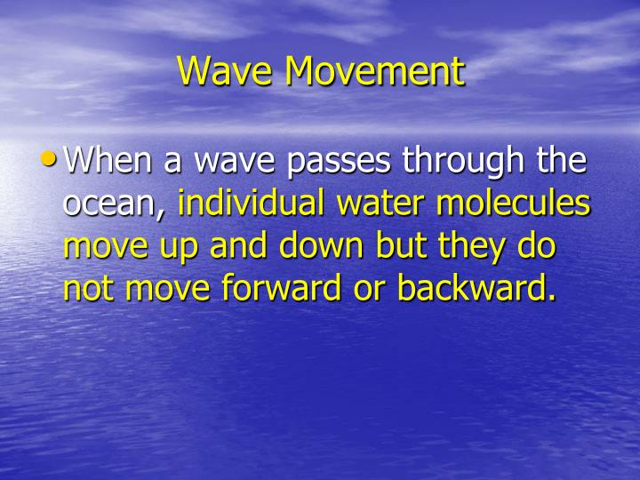 Wave Movement