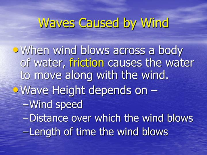 Waves Caused by Wind