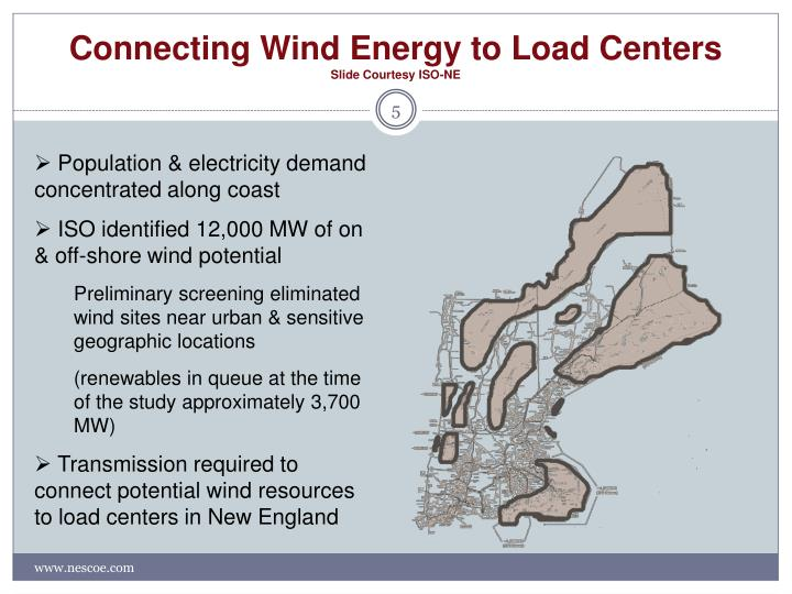 Connecting Wind Energy to Load Centers