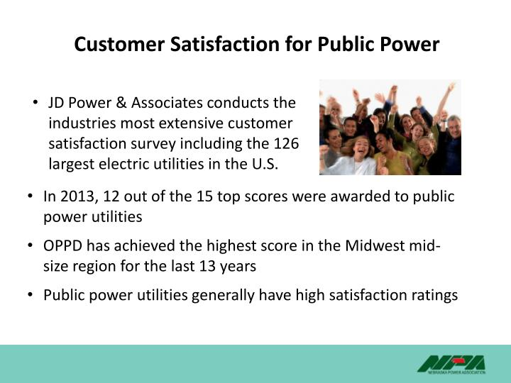 Customer Satisfaction for Public Power