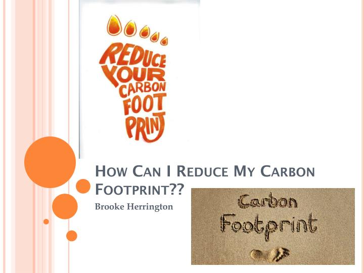 how can i reduce my carbon footprint n.