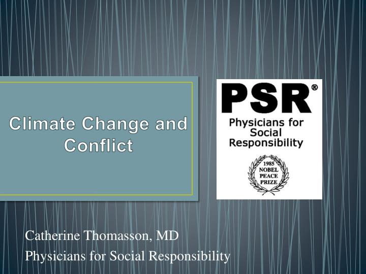 climate change and conflict n.