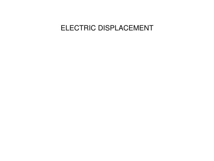 electric displacement n.