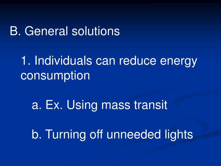 B. General solutions