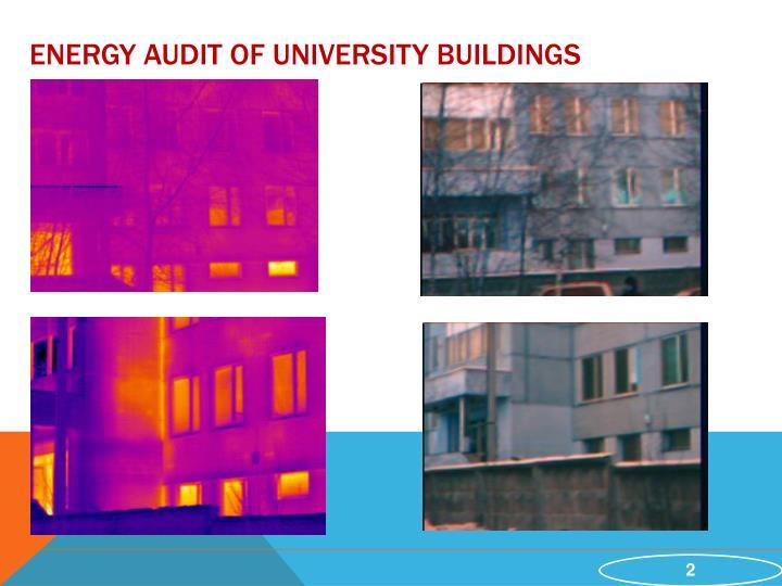 Energy audit of University Buildings