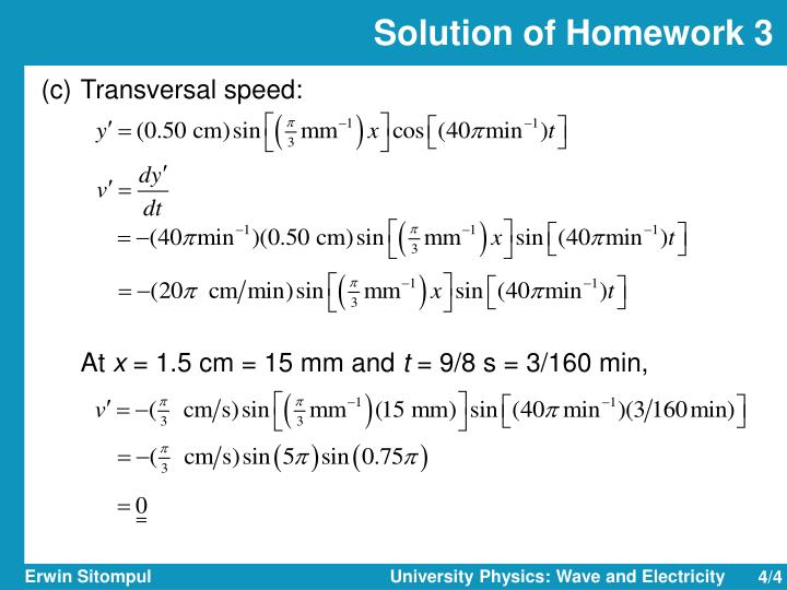 Solution of Homework