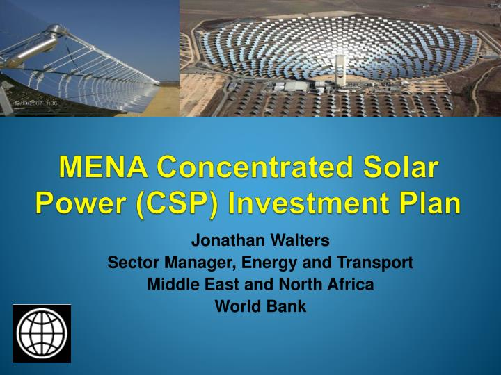 mena concentrated solar power csp investment plan n.