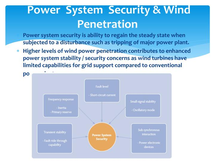 Power  System  Security & Wind Penetration