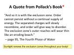 a quote from pollack s book