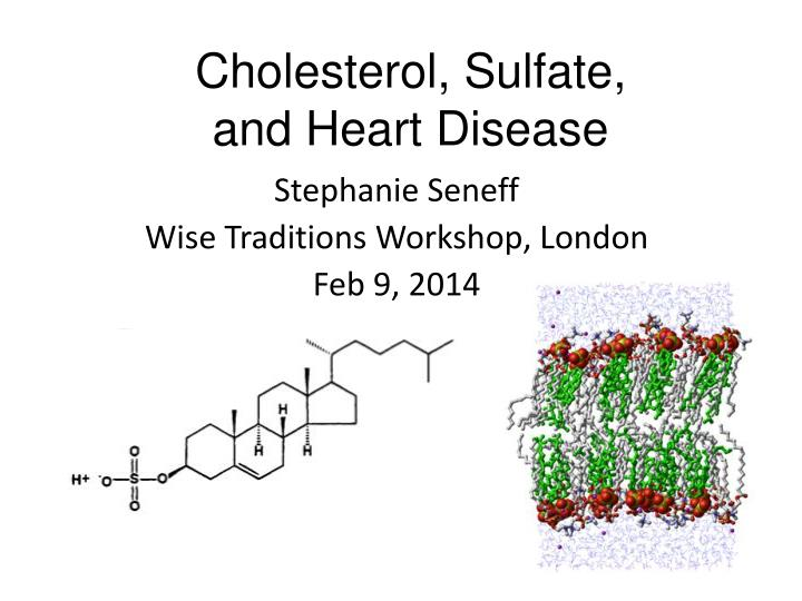 cholesterol sulfate and heart disease n.