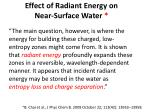 effect of radiant energy on near surface water