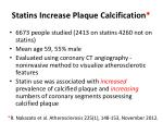 statins increase plaque calcification