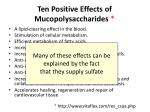 ten positive effects of mucopolysaccharides1