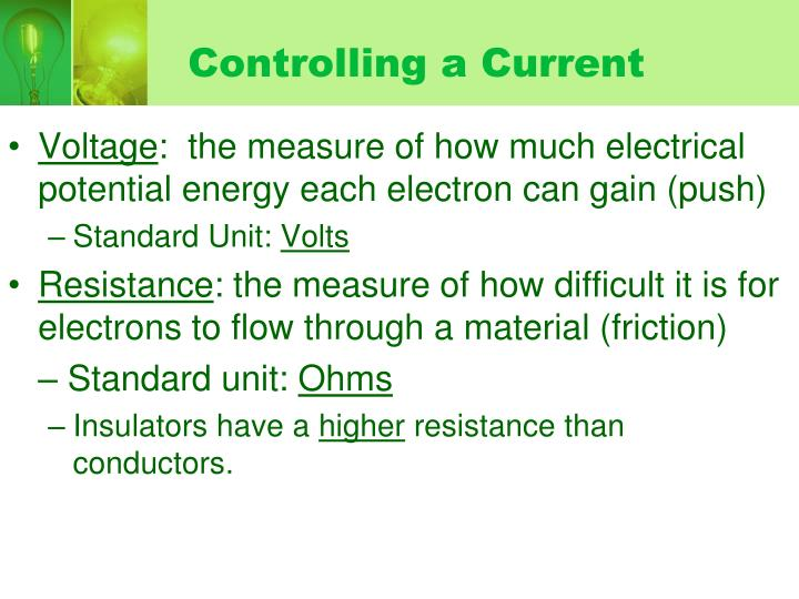 Controlling a Current