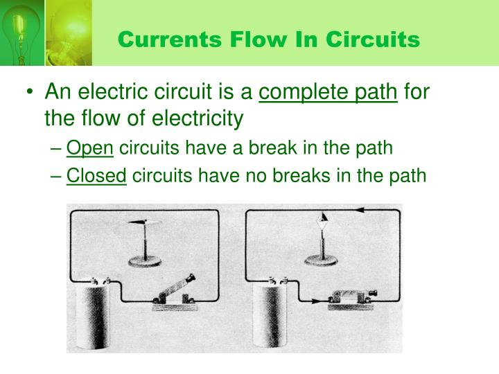 Currents Flow In Circuits