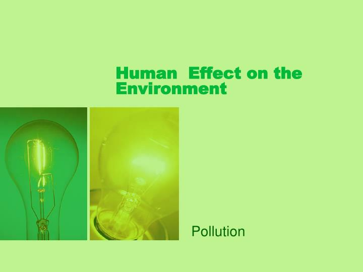 Human  Effect on the Environment