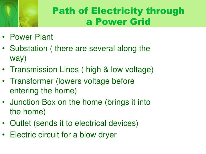 Path of Electricity through a Power Grid