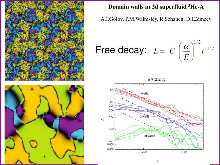 Domain walls in 2d
