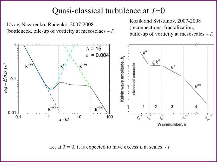 Quasi-classical turbulence at